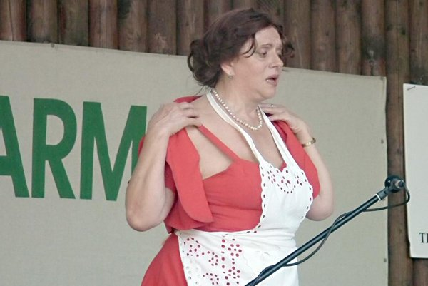 Hosťom jarmoku bola aj herečka Milka Zimková.