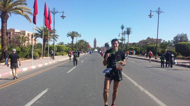 Po maratóne vMarrákeši.