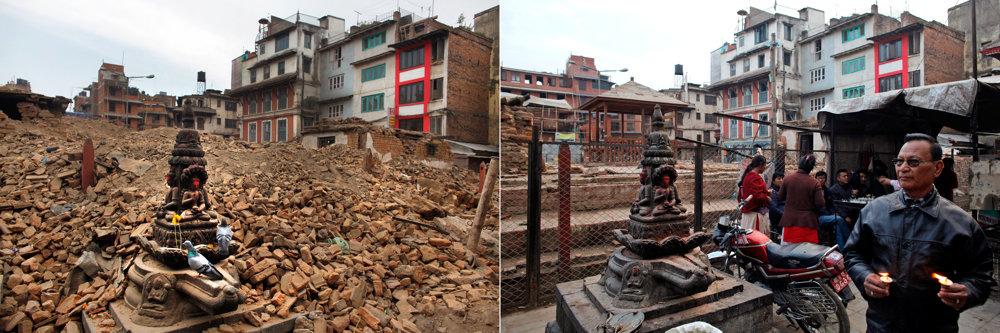 Zemetrasenie v Nepále na snímkach z roku 2015 a 2016.