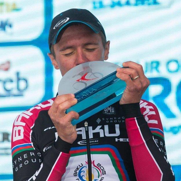 Domáci cyklista mal z triumfu, pochopiteľne, veľkú radosť.