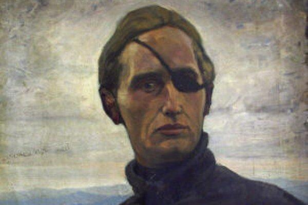 Výrez z autoportrétu Edmunda Gwerka. Trvanie výstavy venovanej 120. výročiu jeho narodenia v Galérii Jozefa Kollára v Banskej Štiavnici pre veľký záujem predĺžili.