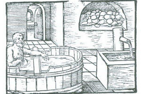 Verejné kúpele. Už v stredoveku boli vyhľadávané.