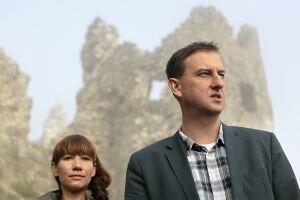 Poslanci za SaS dnes na hrade Revište v Žarnovici odštartovali program Práca namiesto dávok.