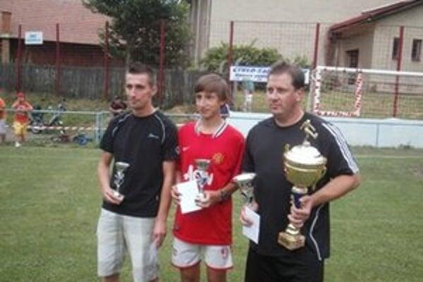 Trojica víťazov. Zľava: Peter Ďurica, Igor Hovorič a Peter Širáň.