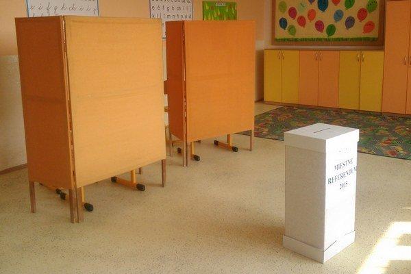 Referendové miestnosti zívali prázdnotou.