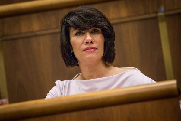 Podpredsedníčka NR SR Lucia Nicholsonová.