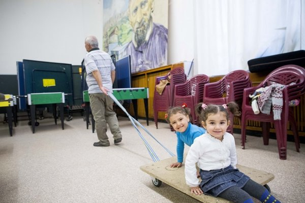 Irackí utečenci sú na Slovensku spokojní.