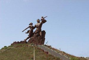 Pamätník africkej obrody v Senegale.