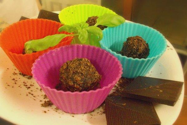 čokoládovo-proteínové guľky