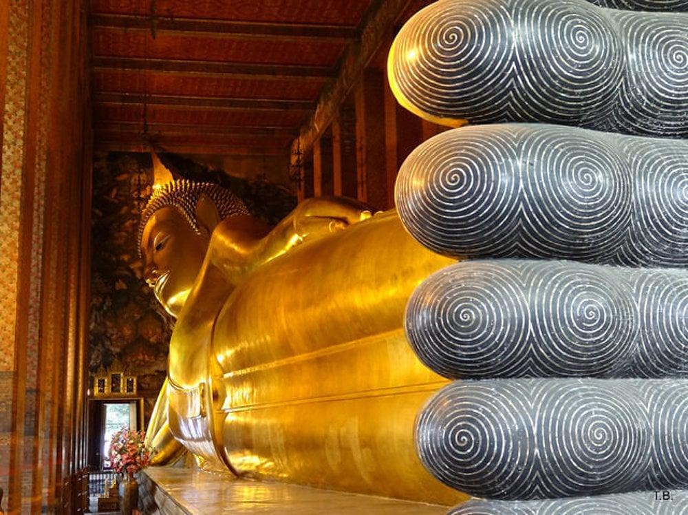 Chrám Wat Pho v Bangkoku.