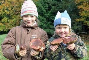 Zo zbierania húb majú radosť aj deti.