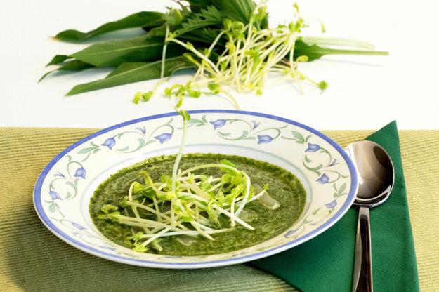 Žihľavová polievka s medvedím cesnakom a kalerábom