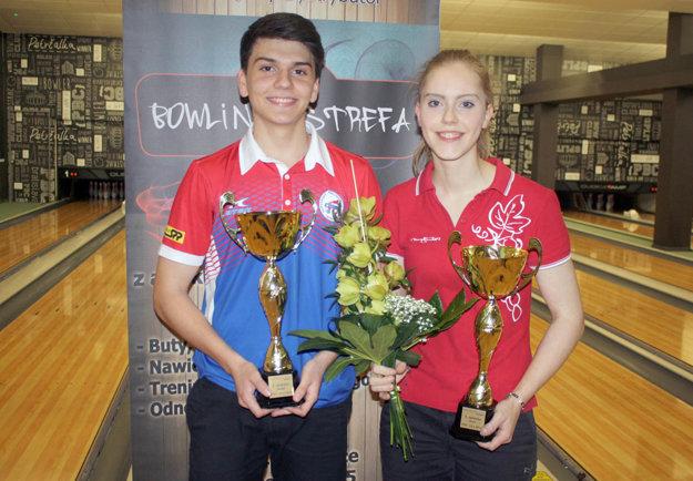 Víťazi celoslovenskej kvalifikácie: Tomáš Vrabec a Petra Stanková.