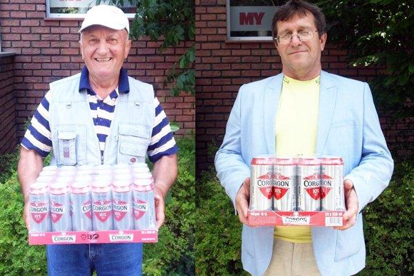V 11. kole si kartón piva Corgoň rozdelili Emil Šatan z Vozokán (okres Topoľčany, vľavo) a Peter Plandora z Nitry.