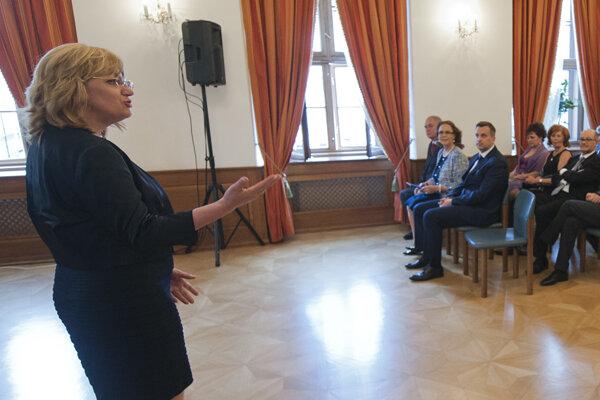 Predsedníčka Súdnej rady Jana Bajánková.