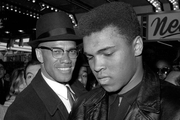 Malcolm X a v tom čase 22-ročný Clay.