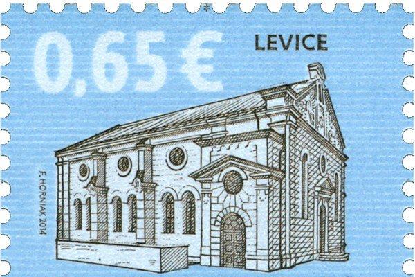 Prvou známkou roka 2014 na Slovensku bola cenina s vyobrazením levickej synagógy.