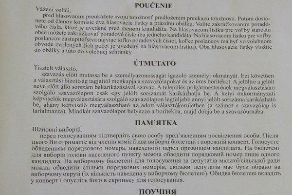 Oznámenie napísané v šiestich jazykoch dostali v 53 obciach Levického okresu.