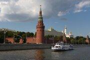 Plavba po rieke Moskva bola zážitkom. V pozadí sa nachádza Kremeľ.