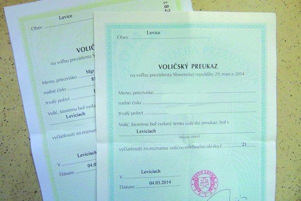 Záujem o vydanie voličských preukazov je tento rok v Leviciach zatiaľ väčší, ako bol pred piatimi rokmi.