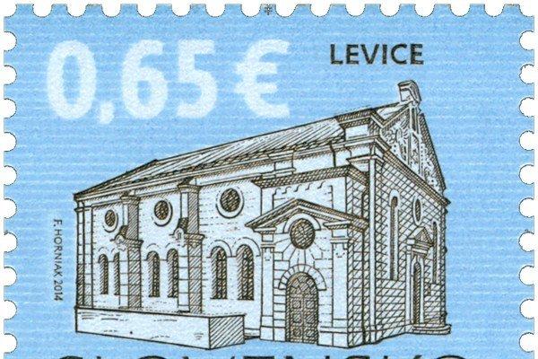 Levická synagóga vyšla na poštovej známke.
