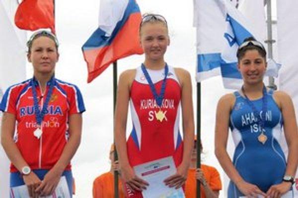 Víťazka Ivana Kuriačková (v strede).