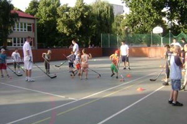 Exhibícia hokejových talentov v Leviciach.