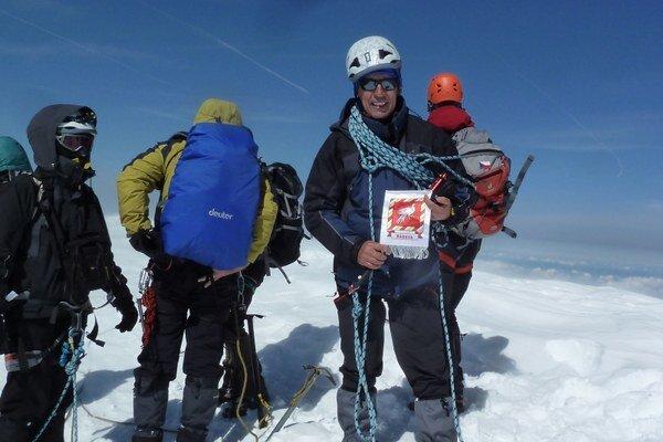 Na vrchole Mont Blancu.