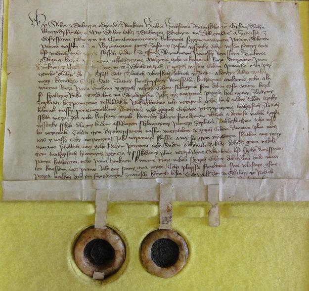 Dlžobný úpis je najstaršou listinou Slovenska v národnom jazyku. Datujeme ho do roku 1422.