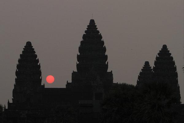 Chrámový komplex Angkór Vat.