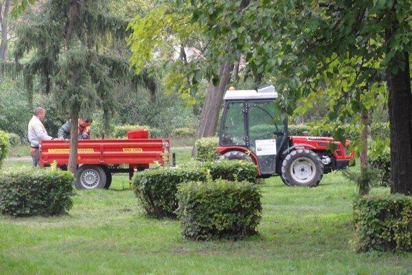 Práce v parku pokračujú.