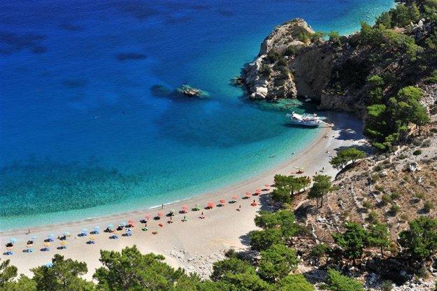 Pláž Apela na ostrove Karpatos.