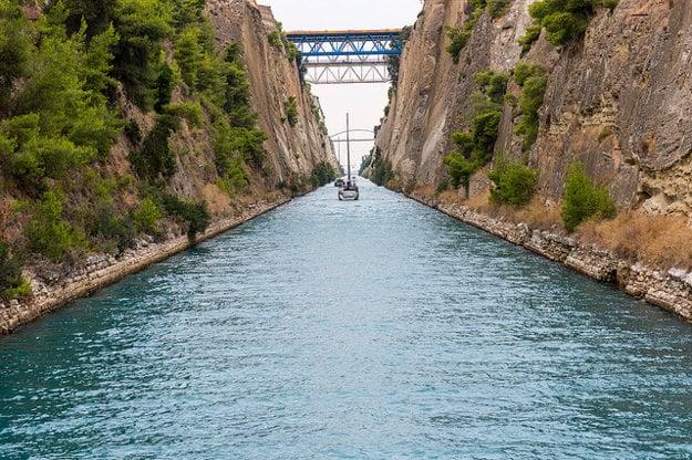 Korintský prieplav.