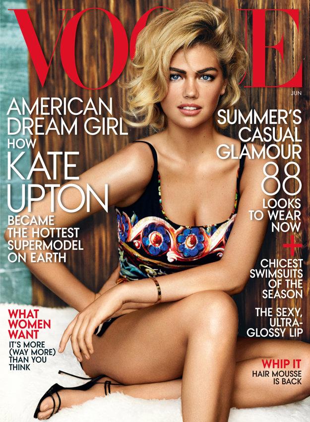 Kate Uptonová na obálke časopisu Vogue
