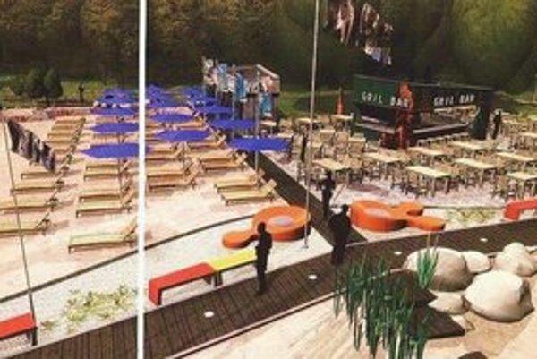 Vizualizácia budúcej pláže.