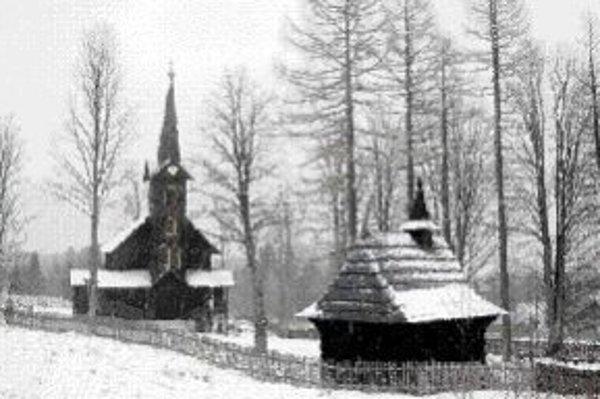 Drevený kostolík v Javorine.
