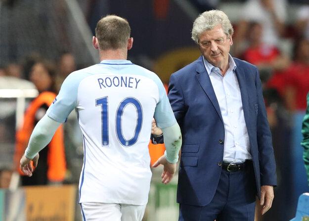 Tréner Anglicka Roy Hodgson a kapitán tímu Wayne Rooney.