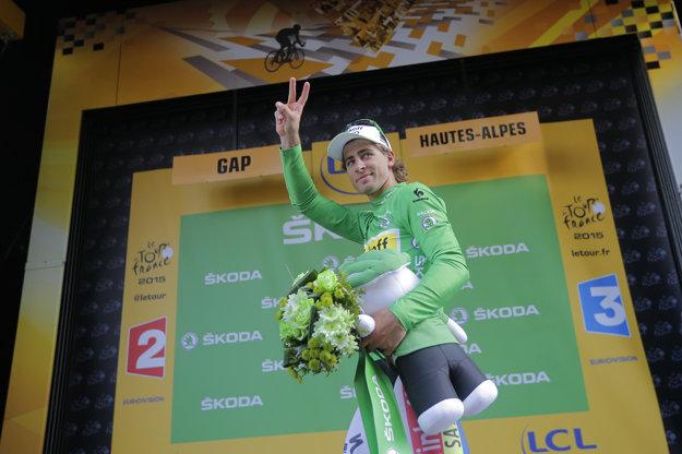 Peter Sagan obhajuje zelený dres z posledných štyroch ročníkov.