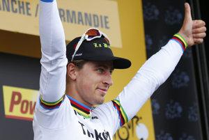 Peter Sagan po skvelom triumfe.
