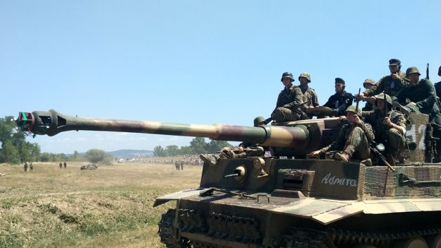 Replika nemeckého tanku Tiger.
