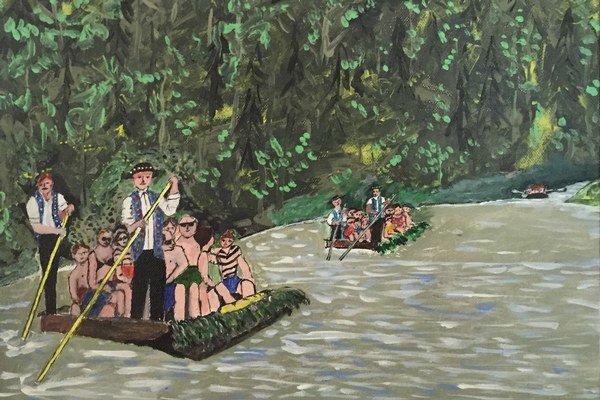 Dunajec od Milana Kostura. Zvíťazil v kategórii insitných umelcov.