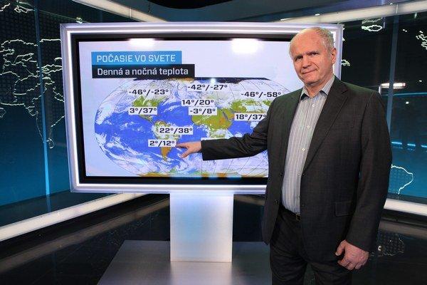 Meteorológ Peter Jurčovič. Domnieva sa, že s teplotnými rekordmi u nás by sme si v júli mohli dať nachvíľu pokoj.