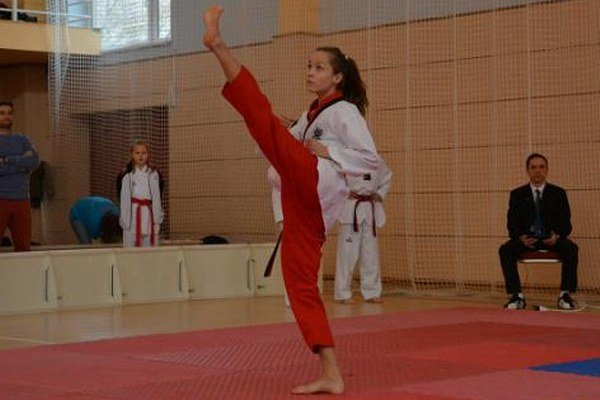 Gabriela Briškárová. Jedna z nádejí klubu KORYO na vlaňajších majstrovstvách republiky.