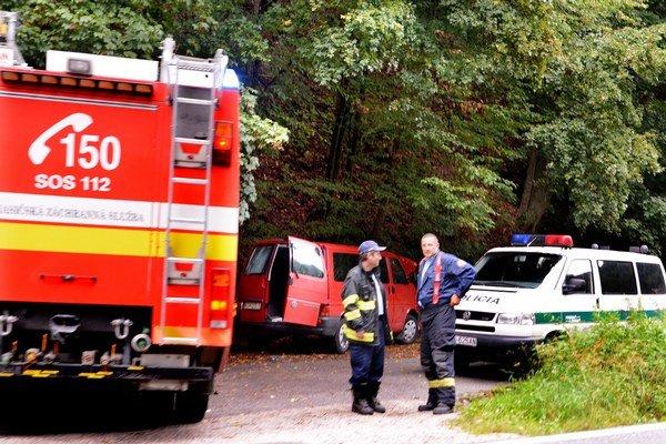 Po nehode. Zranili sa pri nej dve ženy.