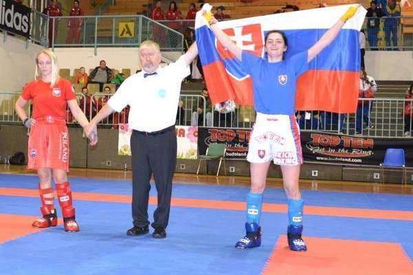 Veronika Cmárová. Takto sa tešila vlani v Maribore po víťazstve nad Poľkou Kedzierskou.