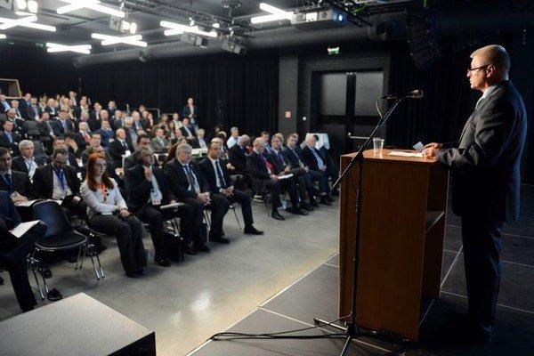 Pavol Pavlis v príhovore k účastníkom stretnutia.