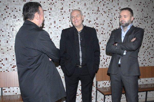 Traja svedkovia. Ladislav Drábik, Ján Margita a Július Rezeš.