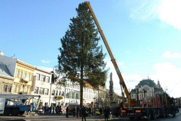 Vianočný strom už na Hlavnej stojí.