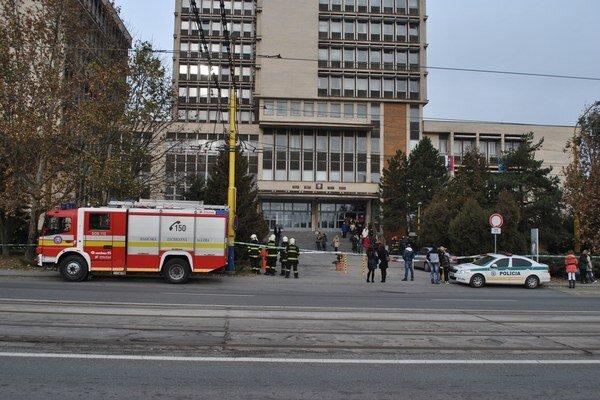 Budovu košických súdov v pondelok evakuovali.