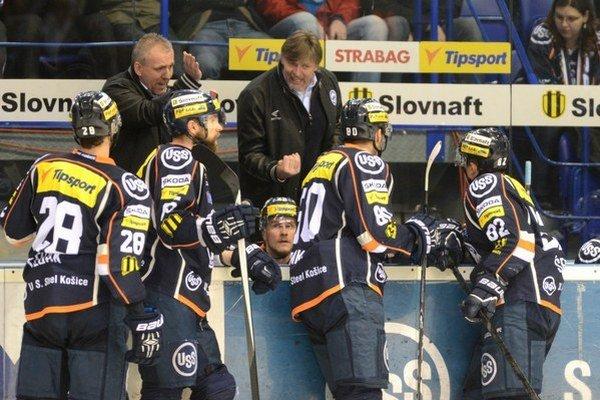 Vľavo Pavol Zůbek, vpravo Anton Tomko. Na lavičke Košíc skončili.